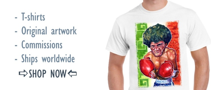 Buy original artwork, limited edition prints and cool T-Shirts depicting legendary fighters