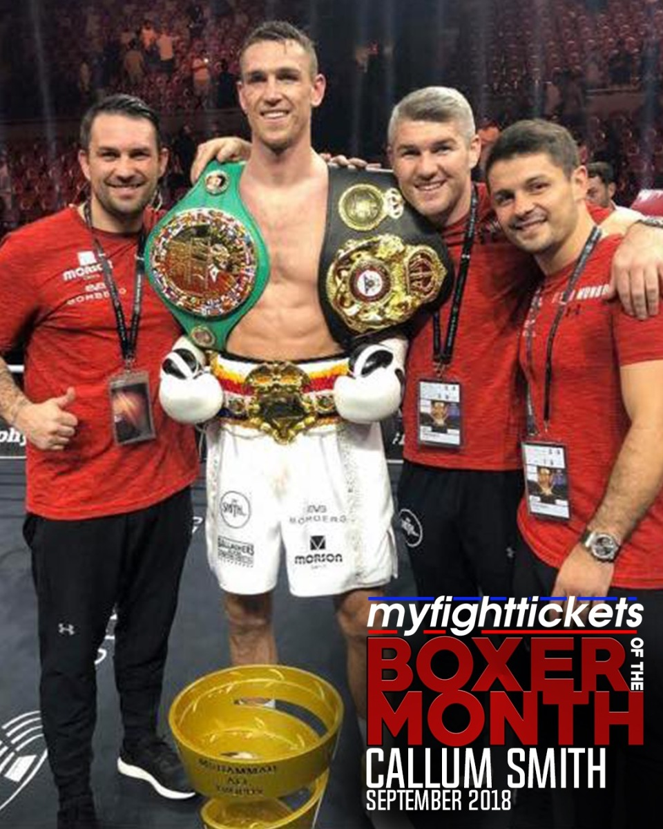 MyFightTickets.com Boxer of the Month - September