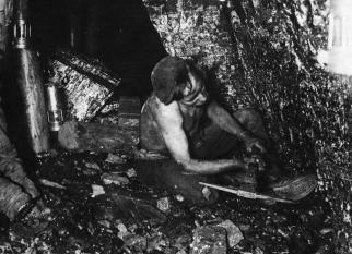 Coal Miner at the Coal Face