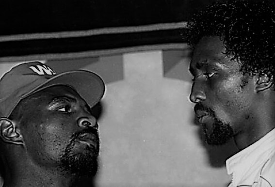 Hagler Hearns Staredown